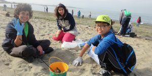 healthy watersheds beach cleanup volunteers